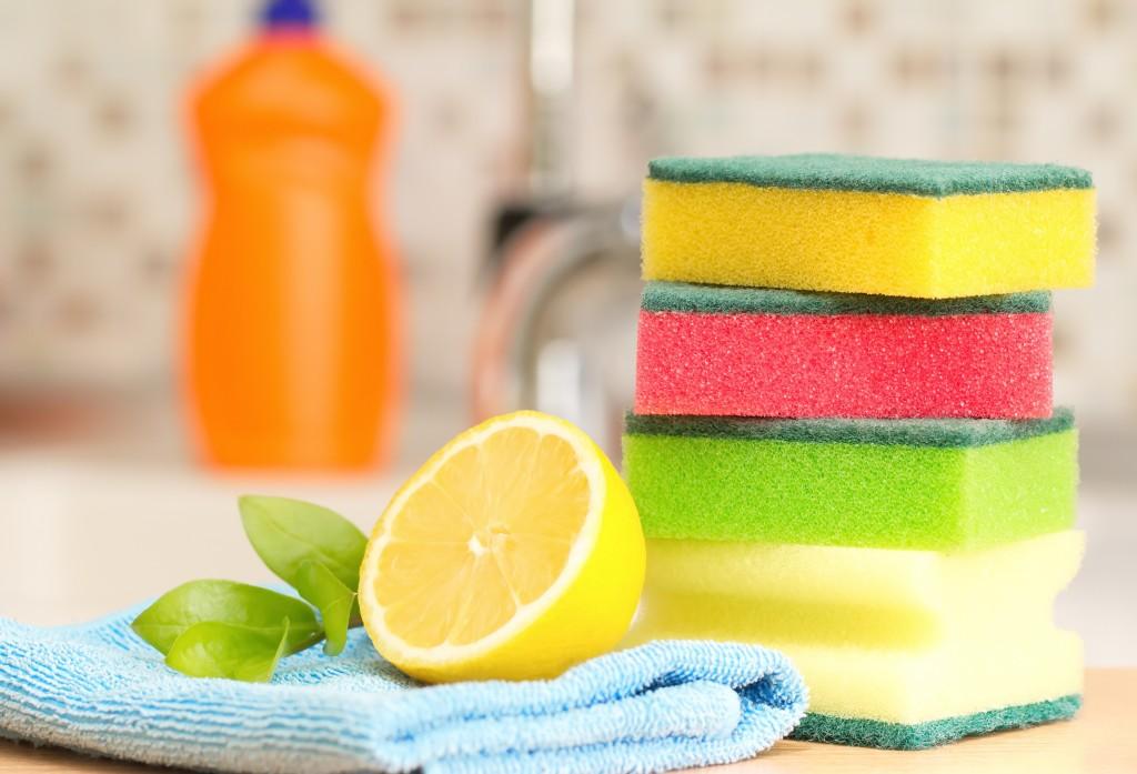 clean kitchen worktops