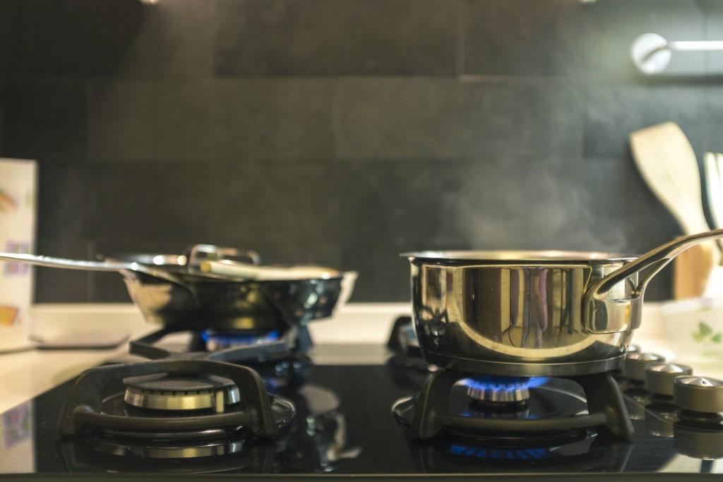kitchen, heat, pots